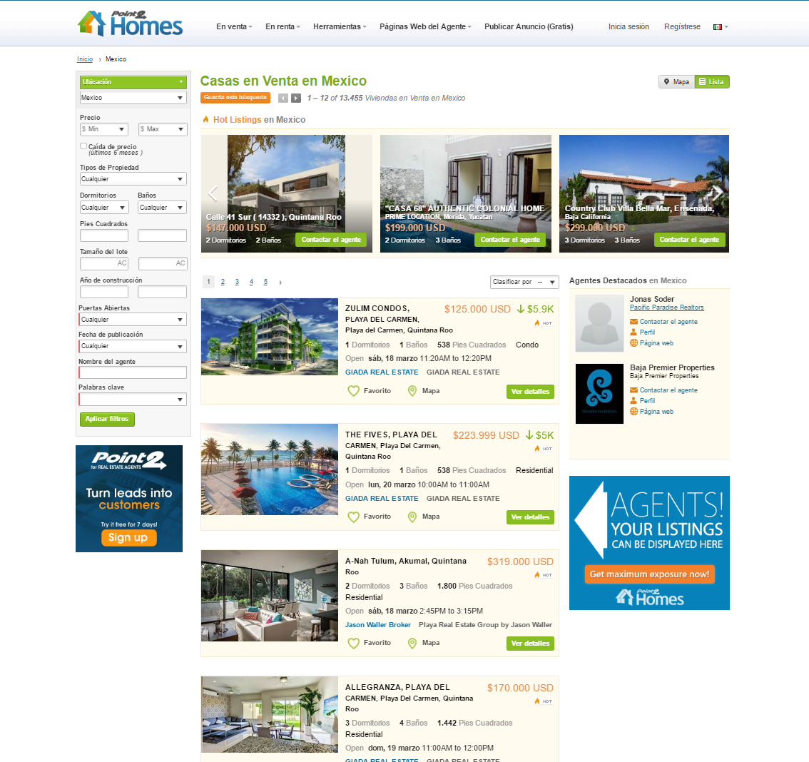 Point2 homes lanza su portal inmobiliario notas de prensa for Portal inmobiliario