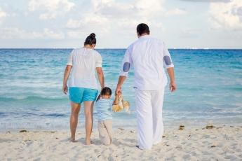 Familia en Cancún