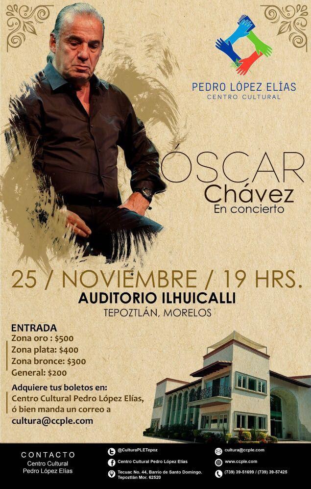 Fotografia Oscar Chávez en concierto