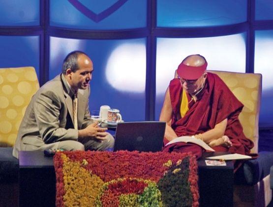 Fotografia Gueshe Lobsant Tenzin y Su Santidad el Dalai Lama