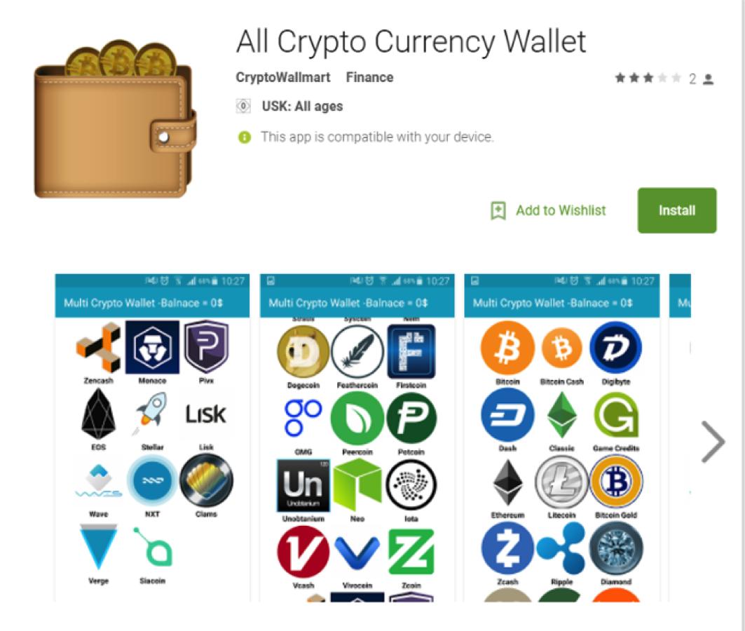 Fotografia Estafas con billeteras de criptomonedas en Google