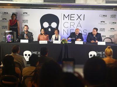Fotografia Conferencia de prensa, Mexicráneos 2018