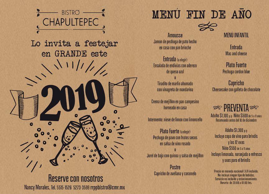 Fotografia Año Nuevo en Bistró Chapultepec
