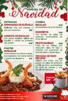 """Menú """"Especial de Navidad"""