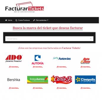 Selección de Empresas en FacturarTickets.com