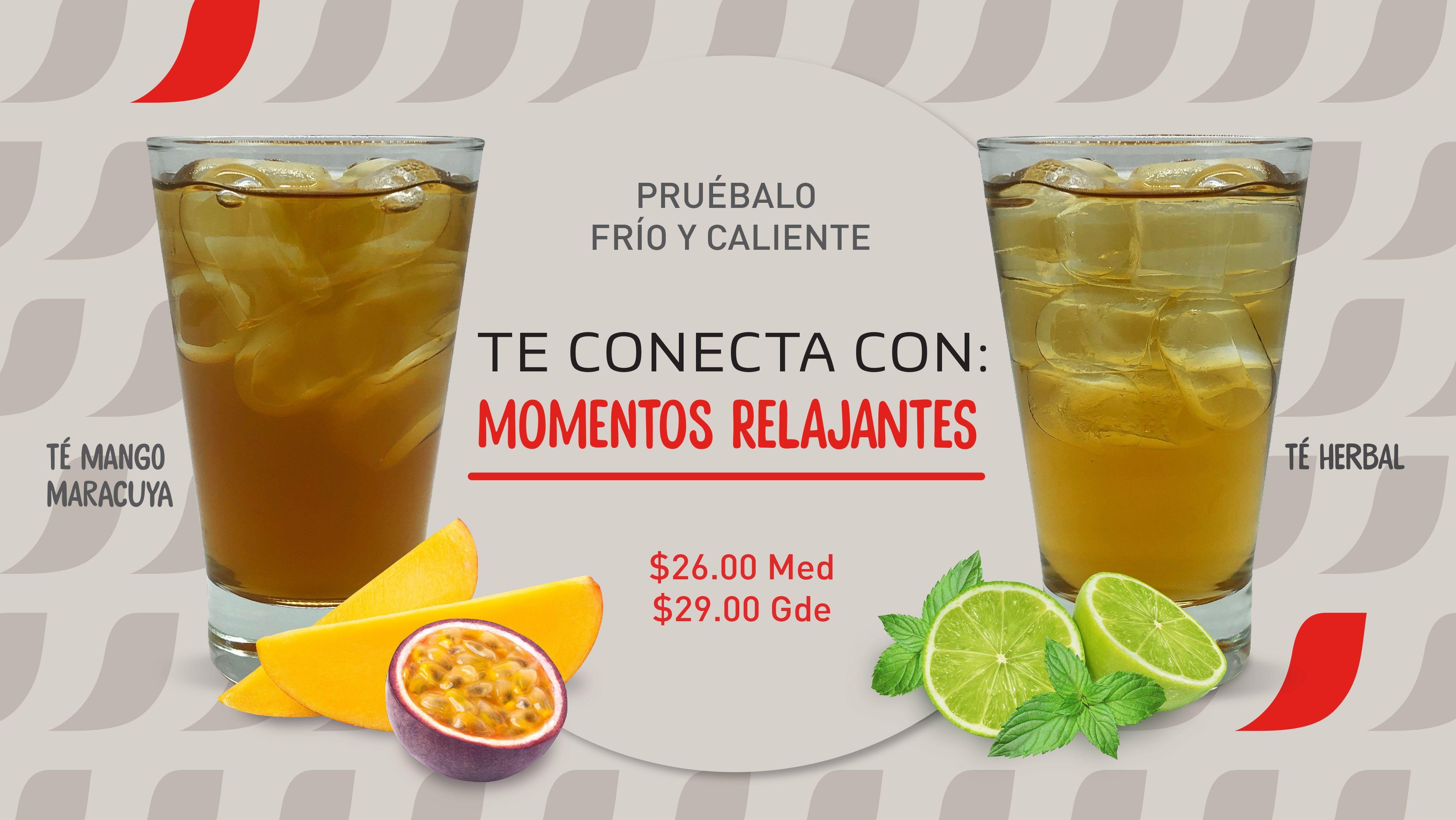 Fotografia Té Mango Maracuya y Té Herbal