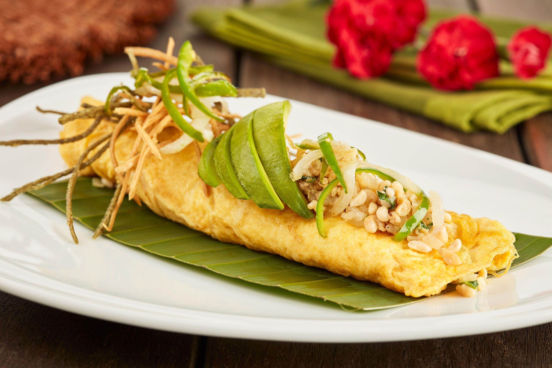 Fotografia Omelette con Escamoles