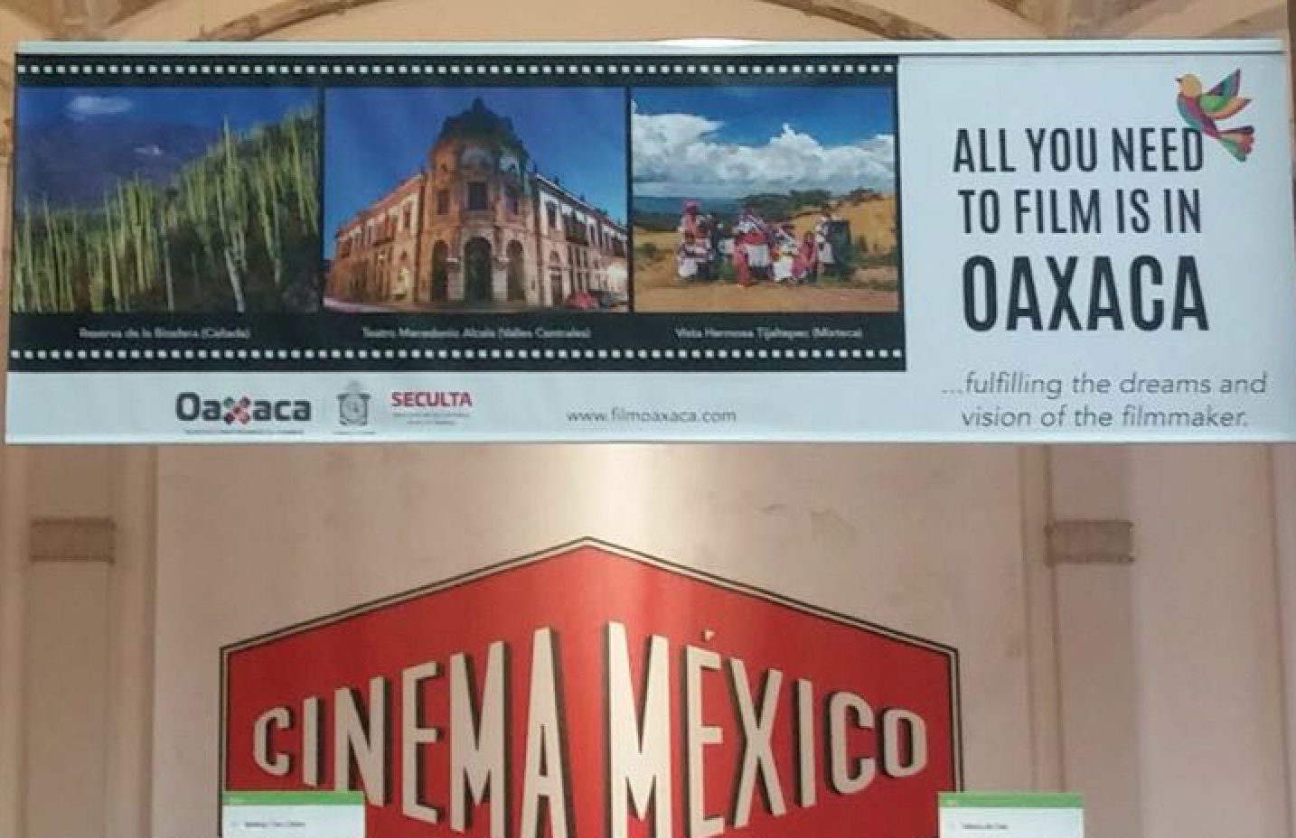Foto de Cartelería Oaxaca Film Comission