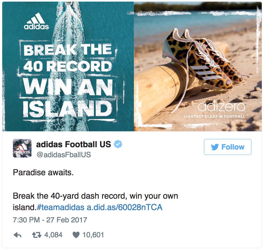 36a0e1146ff2 Adidas le niega la isla prometida a John Ross - Notas de prensa