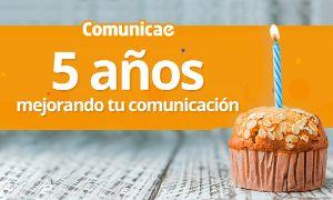 Quinto aniversario de Comunicae