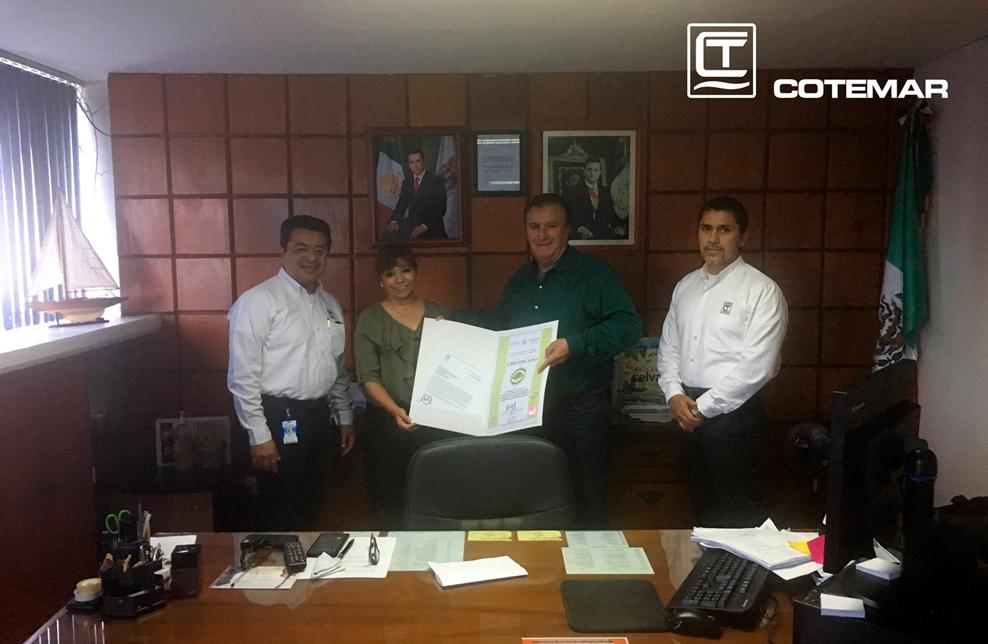 Foto de Cotemar recibe certificado ambiental de la PROFEPA