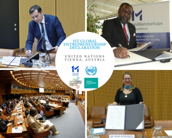 Foto de Se firma en la ONU la 1era Declaración de Emprendimiento