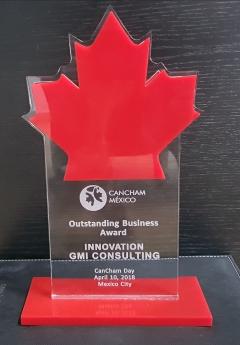 Reconoce la Cámara de Comercio de Canadá en México a GMI Consulting como la empresa más innovadora en el país