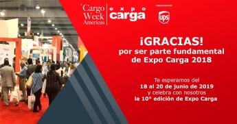Gracias por ser parte fundamental de Expo Carga 2018