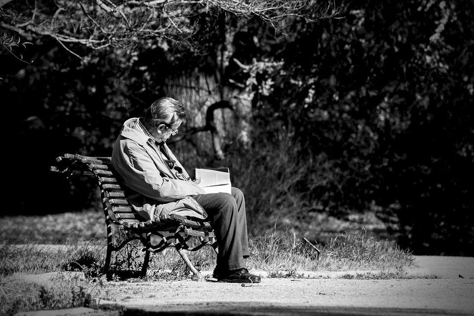 Foto de demencia/soledad
