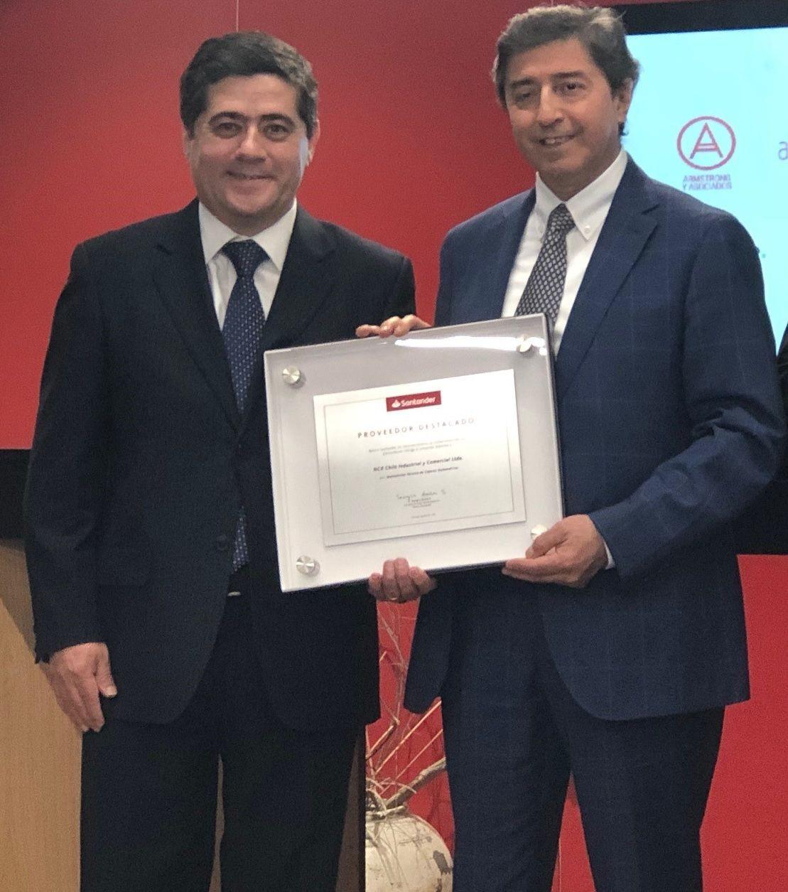 NCR Chile reconocido como uno de los mejores proveedores por Banco Santander