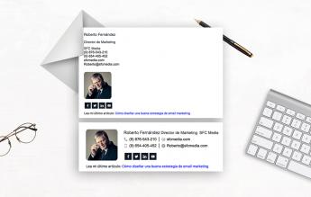 Foto de NEWOLDSTAMP | Ejemplos de firmas de correo profesionales