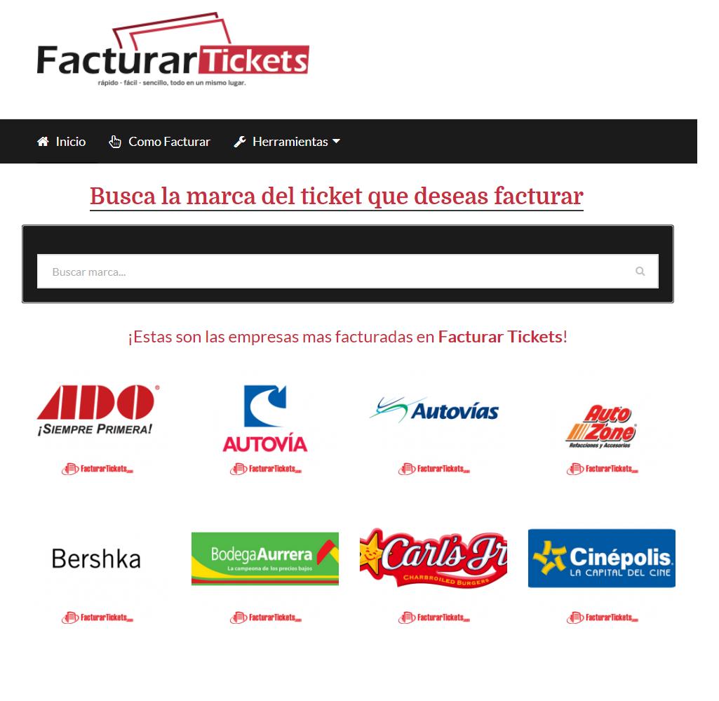 Foto de Selección de Empresas en FacturarTickets.com