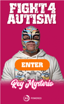 Foto de Rey Mysterio's Fight4Autism plataforma