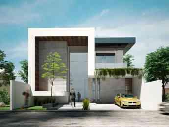Fachada exclusiva y moderna diseñada por Rebora Arquitectos