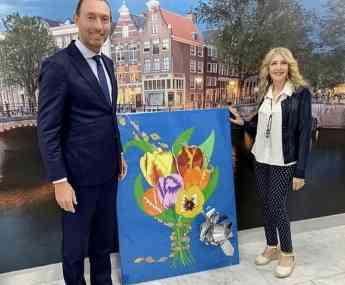 Foto de Dirk Janssen ex embajador Países Bajos en Panamá y Luciana