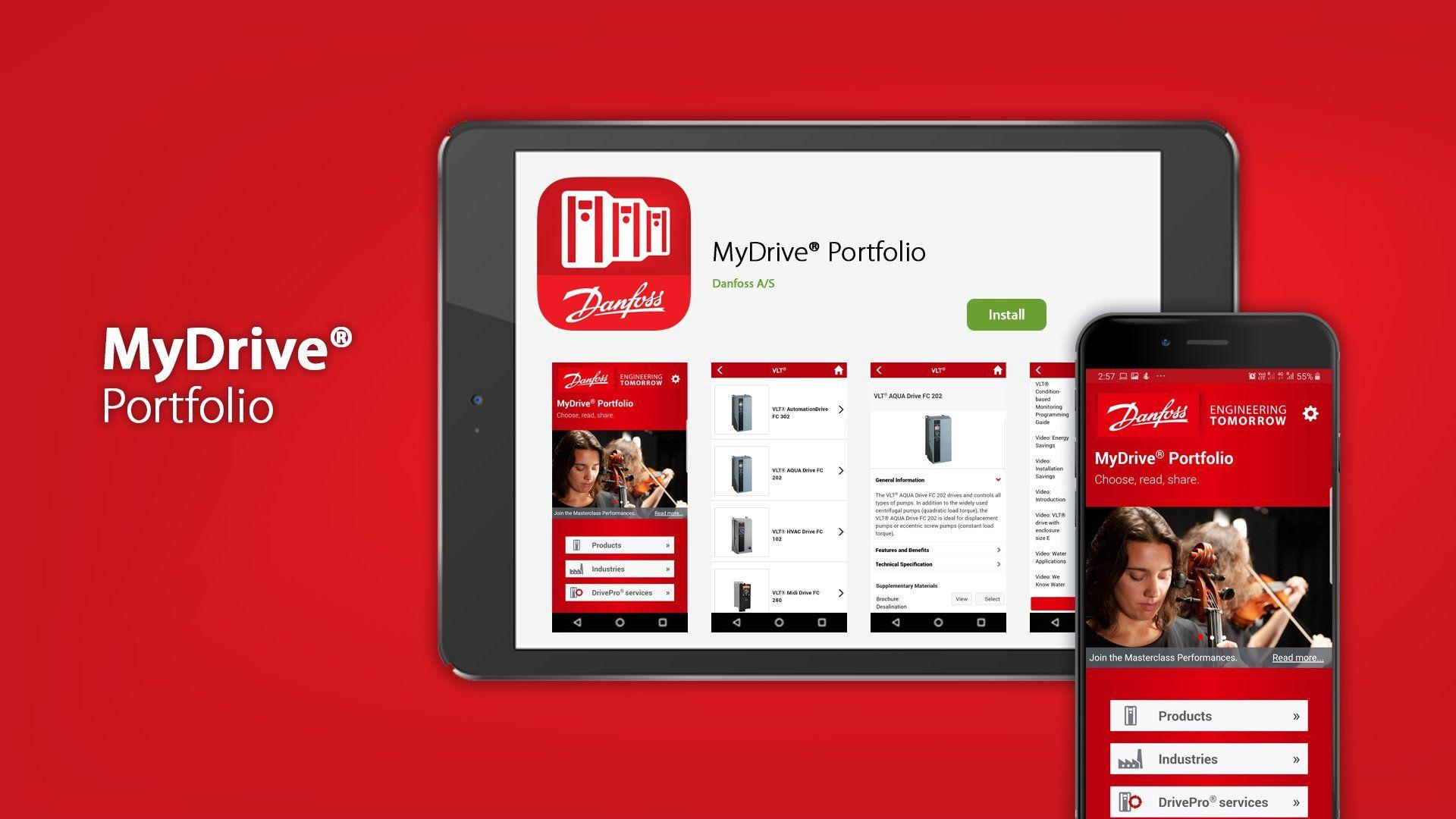 Fotografia Danfoss actualiza la aplicación MyDrive® Portfolio