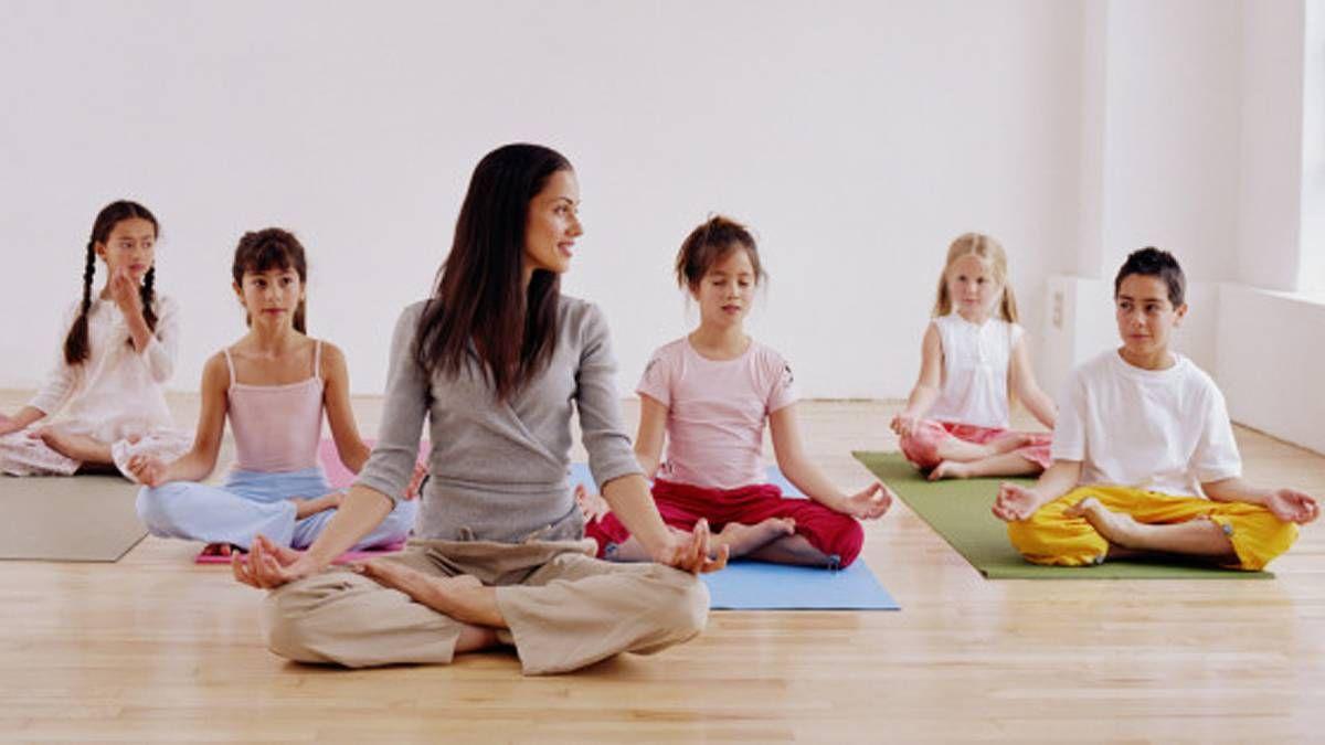 Fotografia Medita en casa con niños