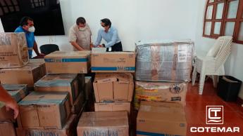 Cotemar entrega donación COVID-19
