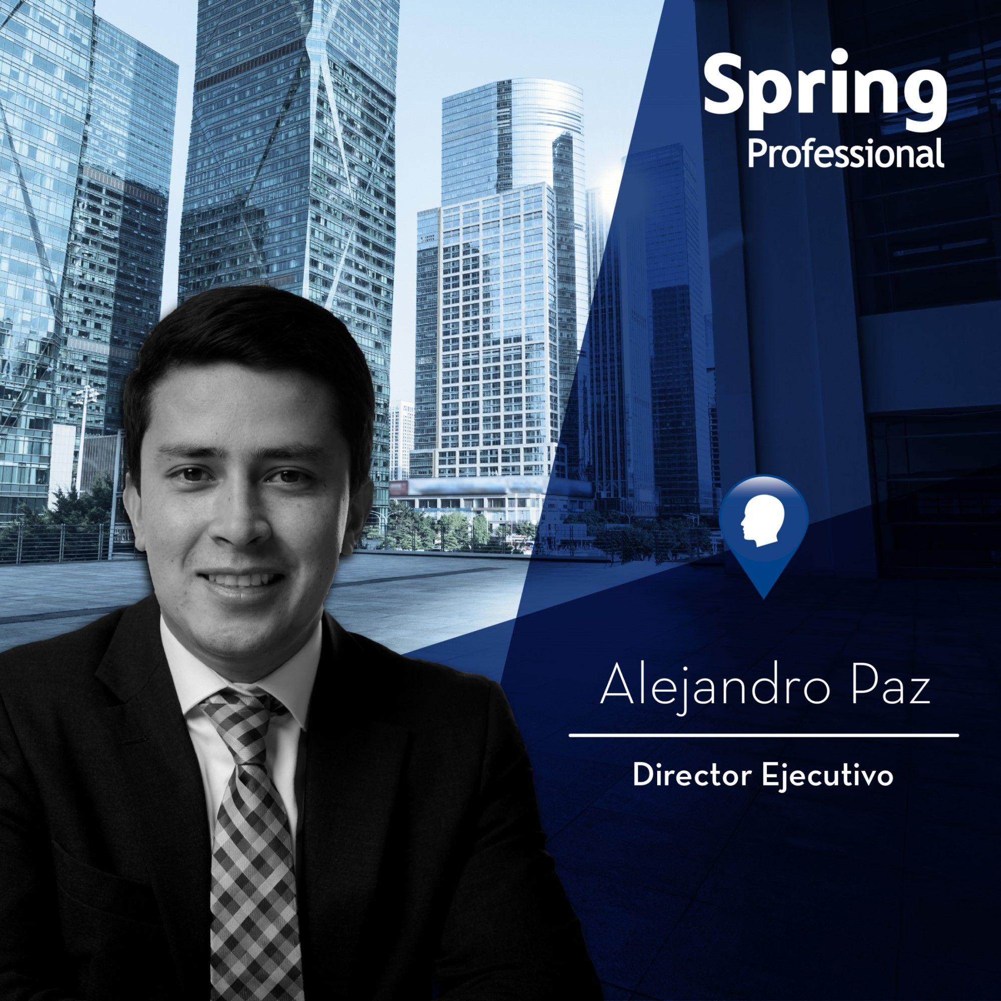 Fotografia Alejandro Paz, Director Ejecutivo. Spring Professional