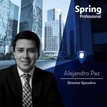 Foto de Alejandro Paz, Director Ejecutivo. Spring Professional