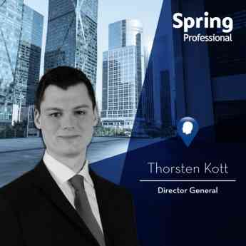 Thorsten Kott, Director General. Spring Professional