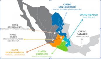 Presencia del CIATEQ en la República Mexicana.