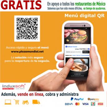 Menú digital gratis para todos los restaurantes de México