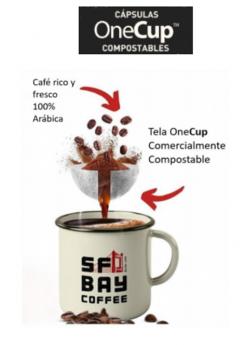 Foto de Cápsulas Compostables OneCup SF Bay Coffee.