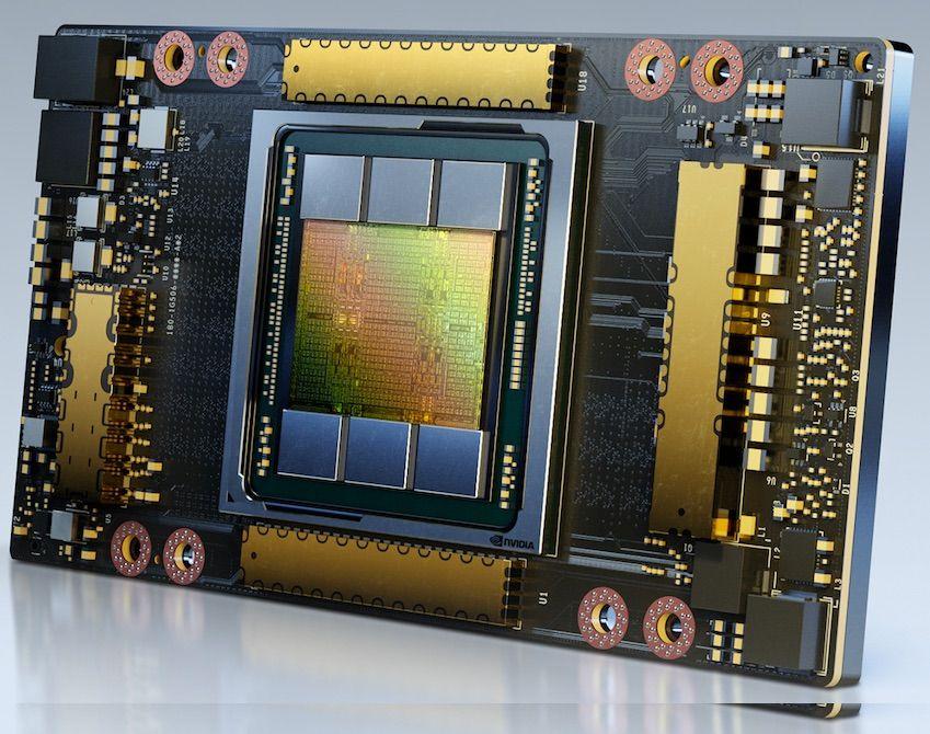 Fotografia GPU A100 de 80 GB