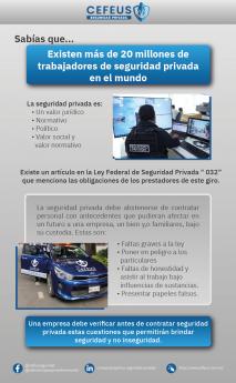 Características de la seguridad privada para las empresas o negocios en México