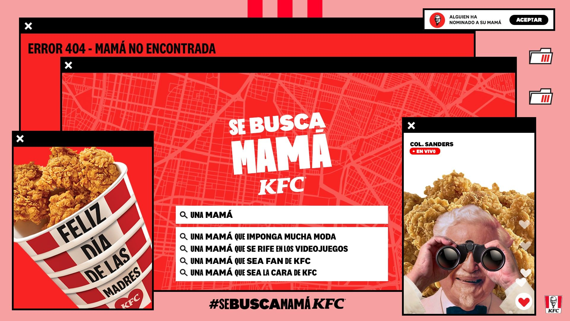 Fotografia Se busca mamá KFC