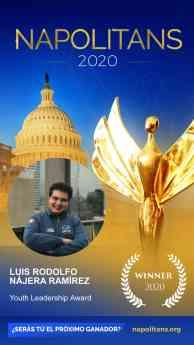 Luis Rodolfo Nájera GANADOR Youth Leadership Award