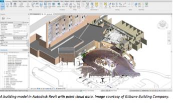 Foto de Un modelo de construcción en Autodesk Revit con datos de