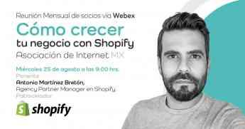 Shopify inicia una relación con la Asociación de Internet MX