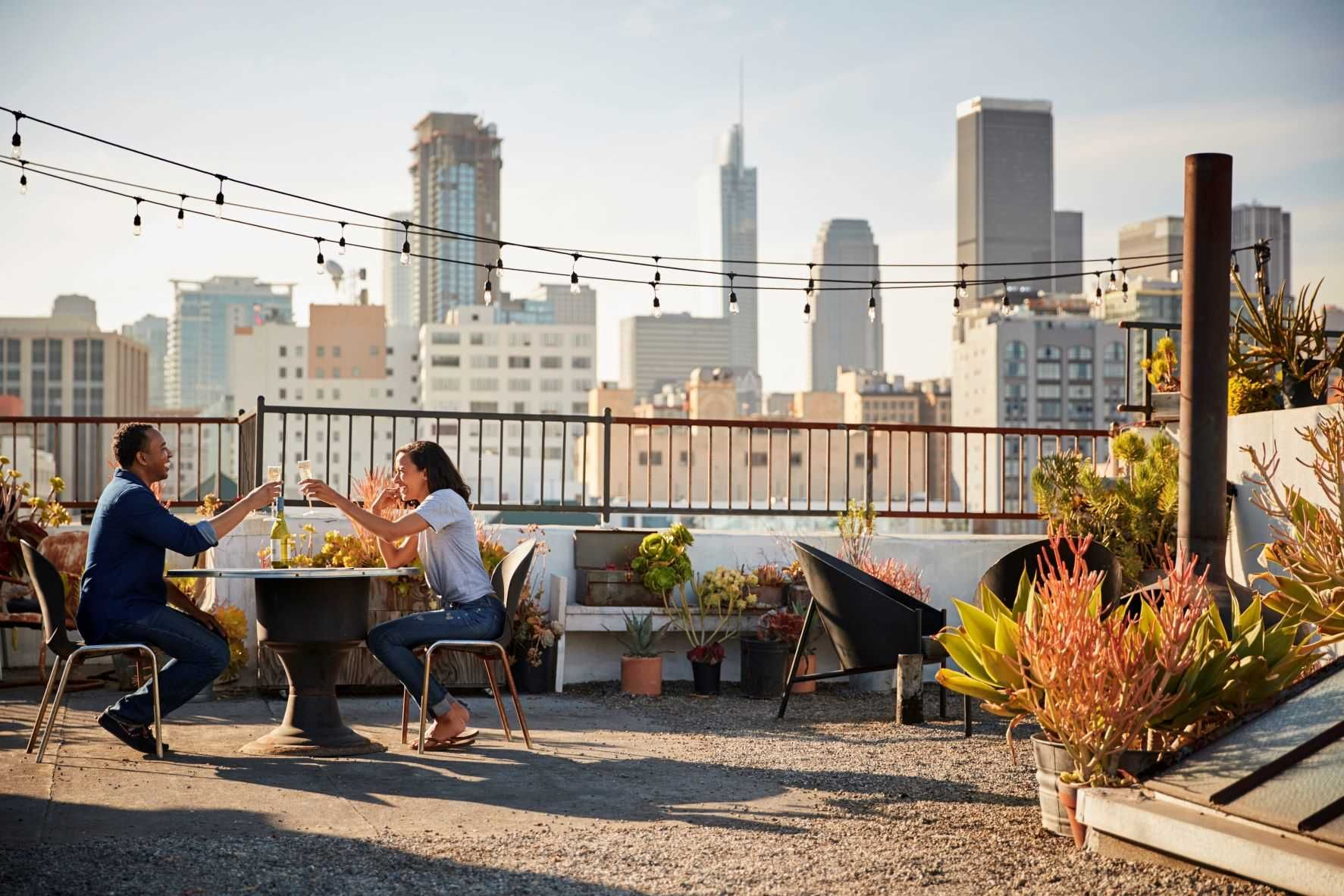 Foto de Pareja en la terraza
